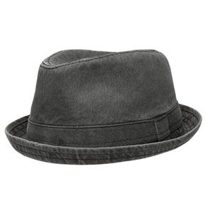 Other - Men's Distressed Black Fedora Style Hat